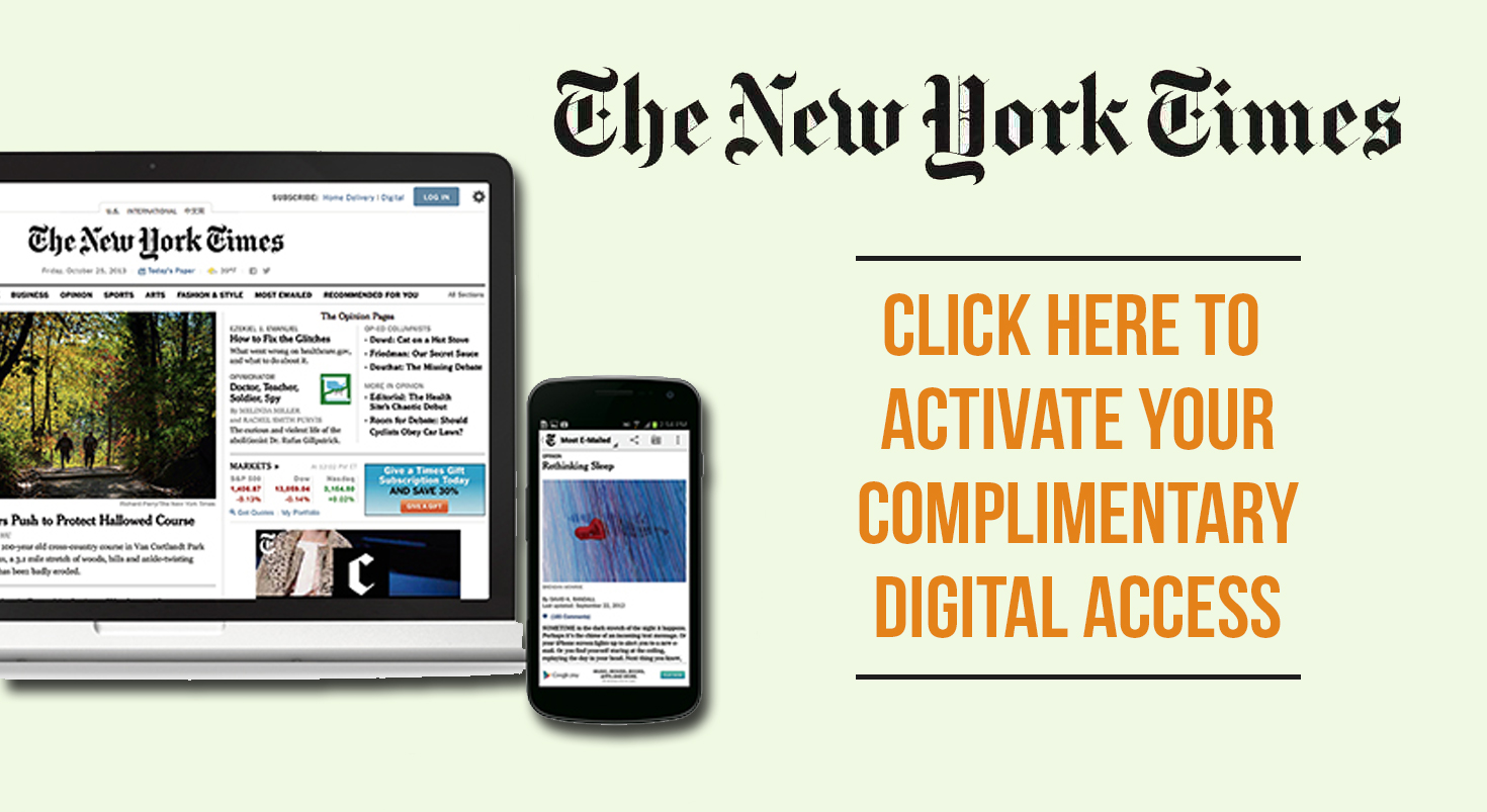 NYT Online Activation
